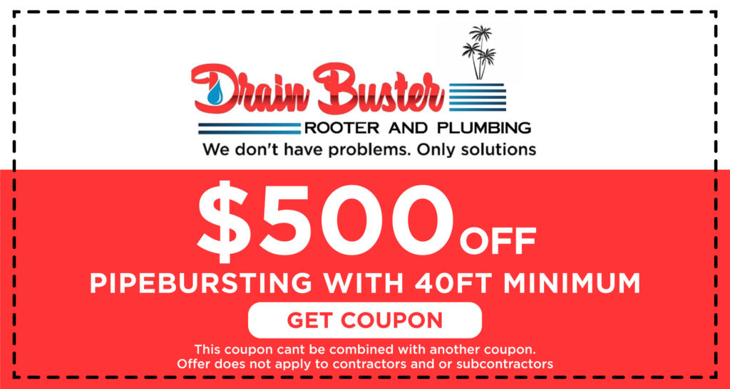 Drain Buster Pipe Bursting Coupon