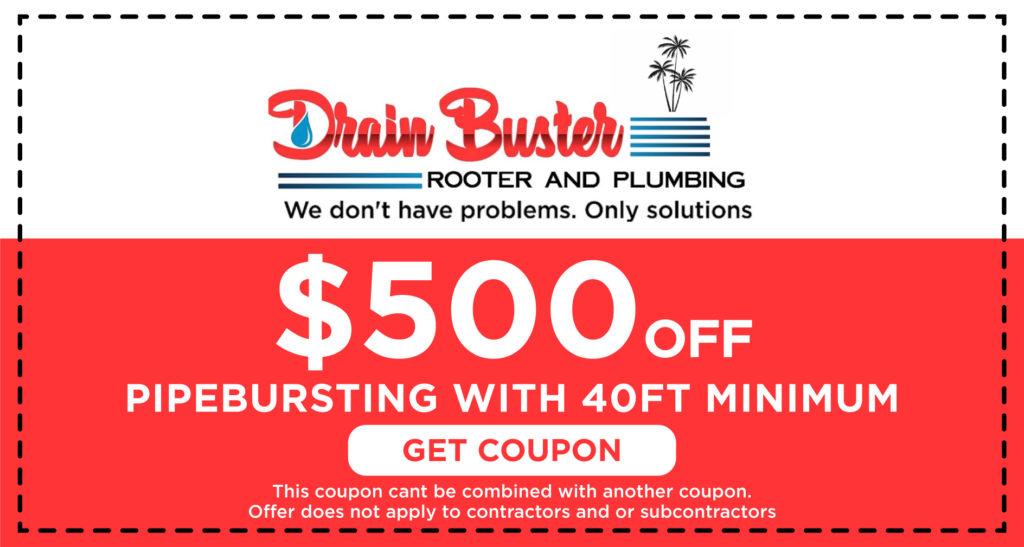 Drain Buster Pipe Bursting Coupon