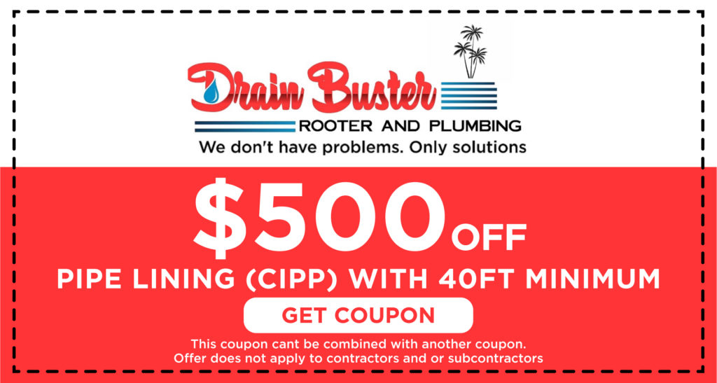 Drain Buster Pipe lining Coupon