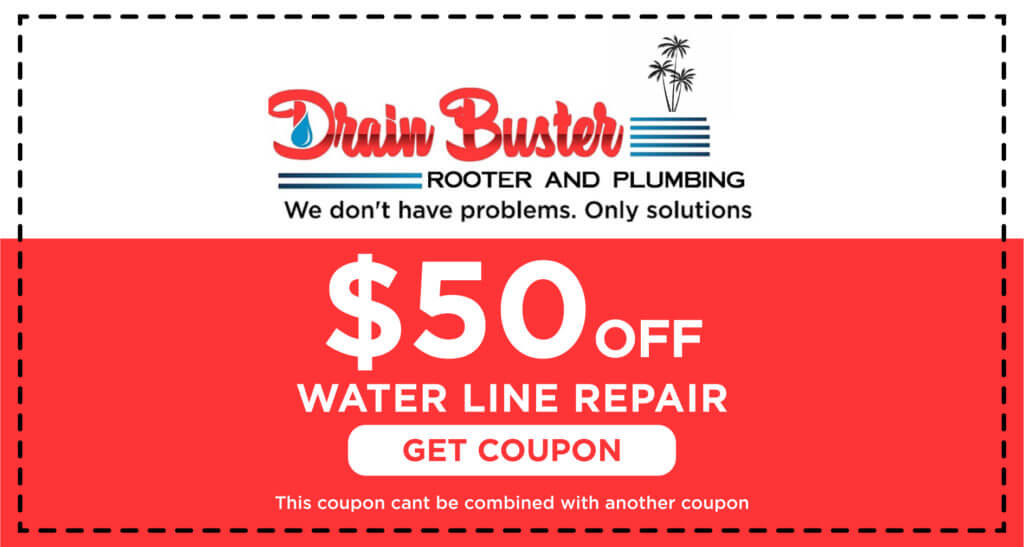 Drain Buster Water Line Repair Coupon