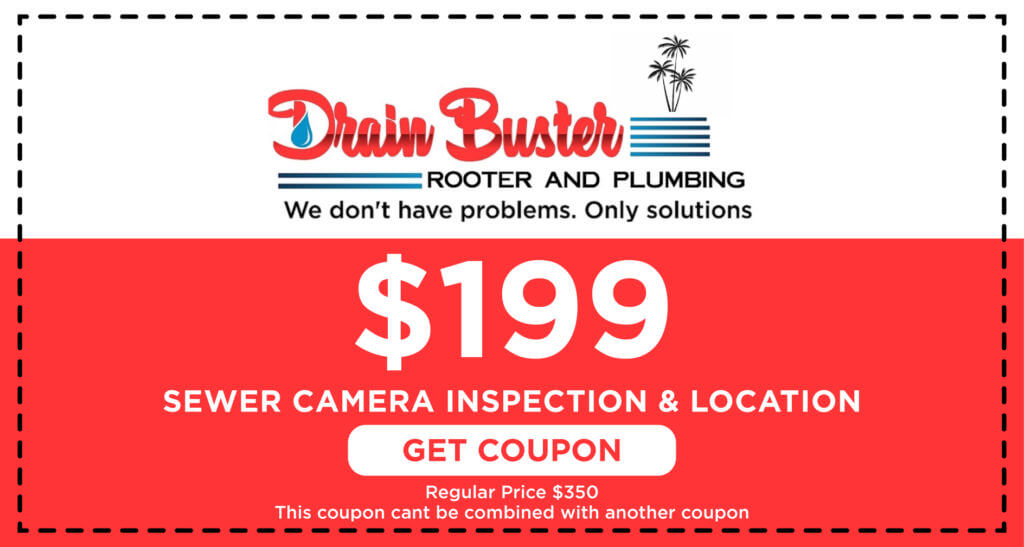 Drain Buster Sewer Camera Inspection Coupon