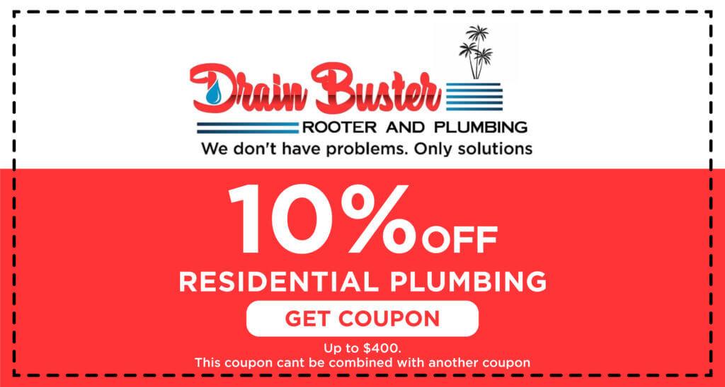 Drain Buster Residential Plumbing Coupon
