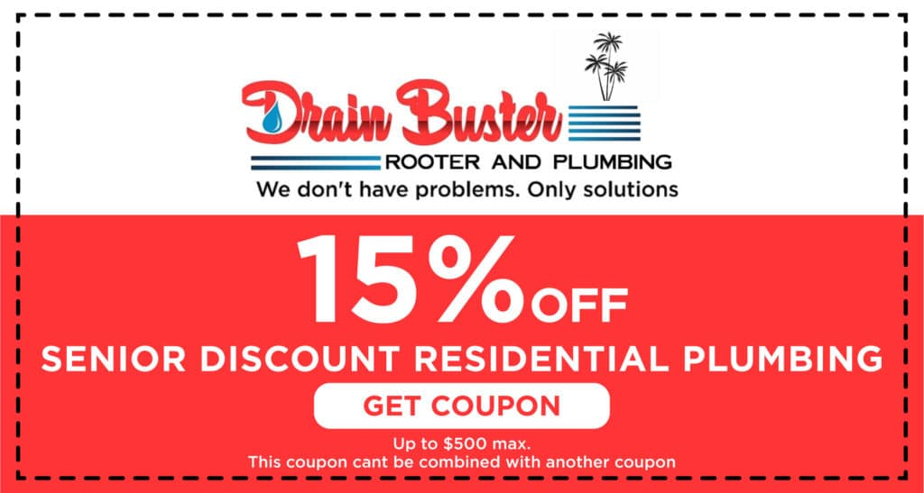 Drain Buster Senior Discount Coupon
