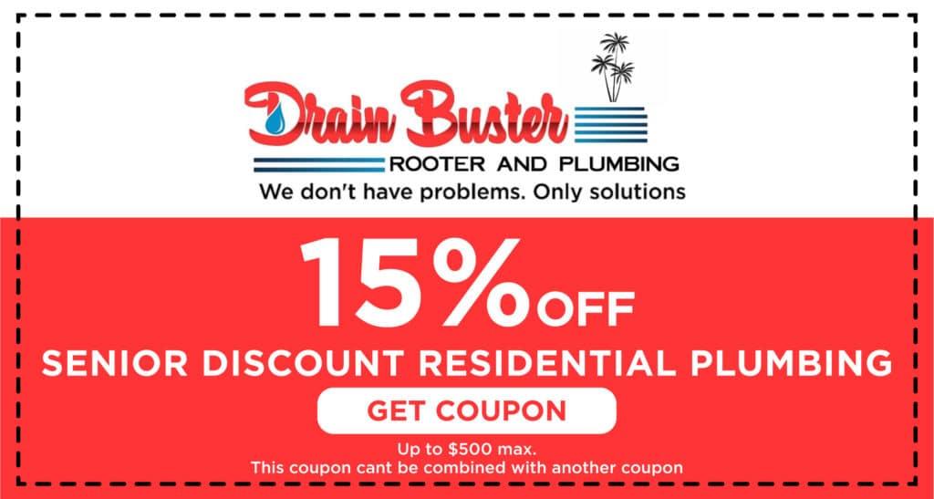 Drain Buster Senior Discount Coupon